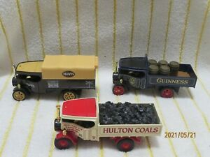 """Matchbox 1/72 (2) Y27's & YAS02 """"1922 Foden Wagon's/Hovis/Guinness & Hulton Coal"""