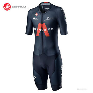 NEW 2021 Castelli INEOS GRENADIERS SANREMO 4.1 SPEED SUIT Skinsuit : SAVILE BLUE