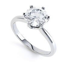 18ct Round Brilliant Cut Diamond Solitaire Ring - Traditional 6 Claw