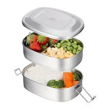 2-Tier Stainless Steel Lunch Box Bento Box Food Storage Container For Adult Kids
