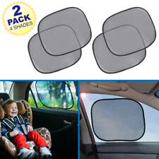 Static Cling Mesh Side Window Sun Shades Foldable SunLight Protection - 4 Piece