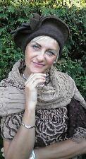 Damenmütze Baskenmütze von Mc Burn   in braun Wollmützen Wollhüte Anlasshüte