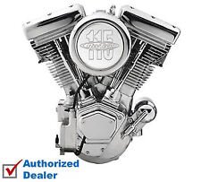 "New Complete Revtech 115"" Chrome Natural Raw Engine Motor Harley Evolution Evo"