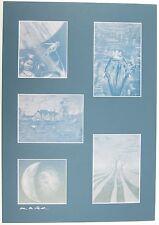 ALAN M. CLARK 5 Prints SIGNED HORROR CEMETARY DANCE C1991
