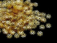400 x Gold Plated 5.5mm Bead Caps Jewellery Craft Findings Beading G18