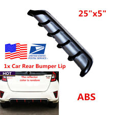 "1Pcs 25""x 5"" Car Rear Bumper Body Kit Shark Chin Spoiler Lip Diffuser Trim Cover"