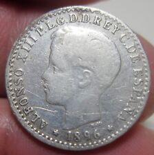 1896 (SPAIN-PUERTO RICO) 10 CENTAVOS (SILVER) --COLONIAL---