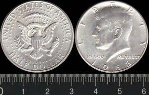 USA: 1968D Half Dollar President JF Kennedy silver 50c