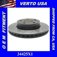 Front Brake Rotor, Drilled , Mercedes Benz C250 C300, SLK250 , Verto USA 34425X1