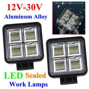 2* Car Driving Lamp 12-30V Aluminium Alloy LED High-bright Work Light Shockproof