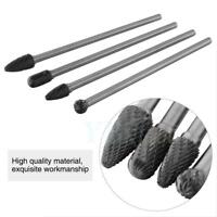 4PCS Rotary Burr 6mm Shank Long Reach Carbide Rotary File for Carving Tool Kit