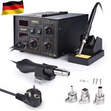 Digitale Lötstation 700W Lötkolben Regelbar 2in1 Heißluft 240V 480℃ 852D+ NEU
