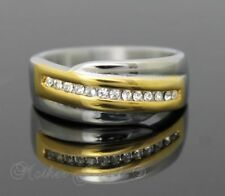 Diamond Stainless Steel Band Rings for Men