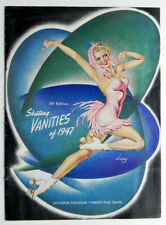 ICE SKATING Vanities 1947 Program ALBERTO VARGAS Cover Art of Skater GLORIA NORD
