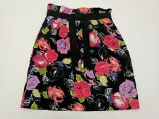 Above Knee High Waist Floral Skirts for Women