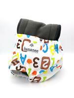 Pannolini Hananee per neonati con inserto in carbone bambù taglia unica Alfabeto