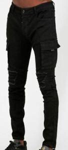Glorious Gangsta Black Cargo Jeans