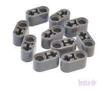 LEGO Technik - 10 x Liftarm 1x2 dunkelgrau dick / Loch Achsloch / 60483 NEUWARE