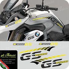 Kit Adesivi Fianco Serbatoio Moto BMW R 1200 gs LC stripes racing becco YELLOW