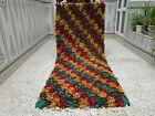Vintage Handmade Moroccan Azilal Berber Rug Beni Ourain Tribal Carpet 2.65 x 6.7