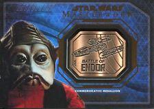 Star Wars Masterwork 2016 Bronze Endor Medallion Nien Nunb