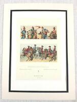 1888 Antico Militare Stampa Francese Cavalleria Ufficiale Battle Abito Storia