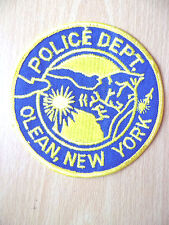 Patches: OLEAN, NEW YORK POLICE PATCH (New,approx. 4x4 inc)