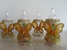 12 Fillable Butterfly Bottles for Favors Prizes or Games Baby Shower Decorations