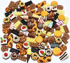 100 Dollhouse Miniature Mixed Chocolate Food * Doll Mini Cakes Wholesale Lot a1
