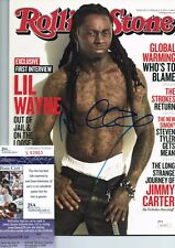 LIL WAYNE Signed 2011 ROLLING STONE MAGAZINE WEEZY TUNECHI YMCMB AUTOGRAPH +JSA