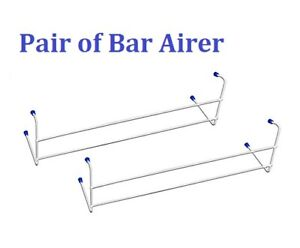 Premium Quality Hanging 2 Bar Radiator Clothes Airer Extra Drying Space Rail 2pc