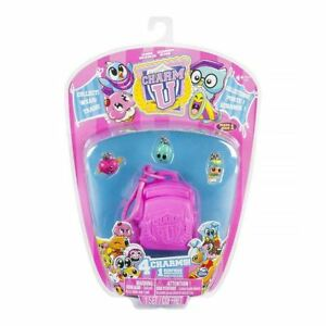 New Charm U 4 Figure Pack w/ Pink Backpack & 1 Surprise Charm Official