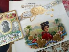 10 x vintage Cigar Box Labels - very ornate, attractive!