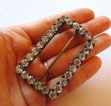 Rhinestone Buckle Excellent Condition Chic Antique Edwardian 1900s Faceted Paste