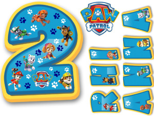 PAW PATROL INSPIRED NAME AND NUMBER PERSONALISED CAKE EDIBLE ICING TOPPER