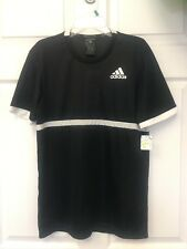 ADIDAS Mens  TENNIS GOLF  SHIRT XS Black/White $32 for $11.99