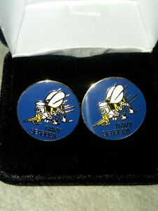 US Navy Seabees Cuff Links USN (1) Set New In Box