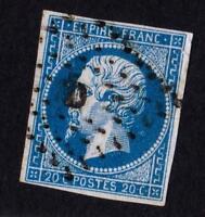 EMPIRE- VARIÉTÉ N°14 A (PETIT ANNEAU DE LUNE ) oblitéré D bureau de Paris