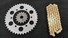 KAWASAKI EX300 NINJA NEW SPROCKET & GOLD CHAIN SET 14/42  2013 - 2015