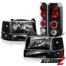 Black Headlight Corner Signal Tail Lights lamps 92-96 Ford F150 F250 F350 Bronco