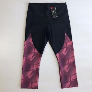 Under Armour Women's HeatGear Yoga Style Pants 7/8 Leggings Crop NWT Sz L