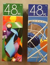 Set of 2 Puzzles: 48 pieces Pinwheels, Fair Ride, Brand new sealed