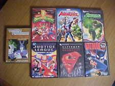 7 DVD LOT SUPERMAN BATMAN TRANSFORMERS GREEN LANTERN AVENGERS POWER RANGERS ETC.
