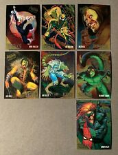 1995 SPIDER-MAN FLEER ULTRA MARVEL GOLDEN WEB COMPLETE 7 CARD INSERT CHASE LOT
