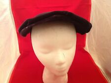 Vintage Ladies Hat Dark Purple Velour Reggi Of Wilshire French Room Stix Baer