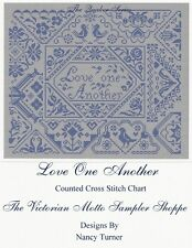 QUAKER   Love One Another sampler counted cross stitch chart