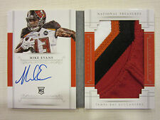 2014 National Treasures Jumbo RC Auto Vertical Booklet 4 Color Mike Evans 48/99