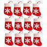 EE_ EG_ 12Pcs/Set Santa Xmas Socks Snowflake Pouch Cutlery Bag Christmas Decor D