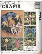 7774 UNCUT Vintage McCalls Sewing Pattern A Guardian Angel Christmas Treeskirt F