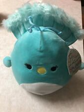 New Squishmallows Tiff the Teal Peacock Bird Plush 8""